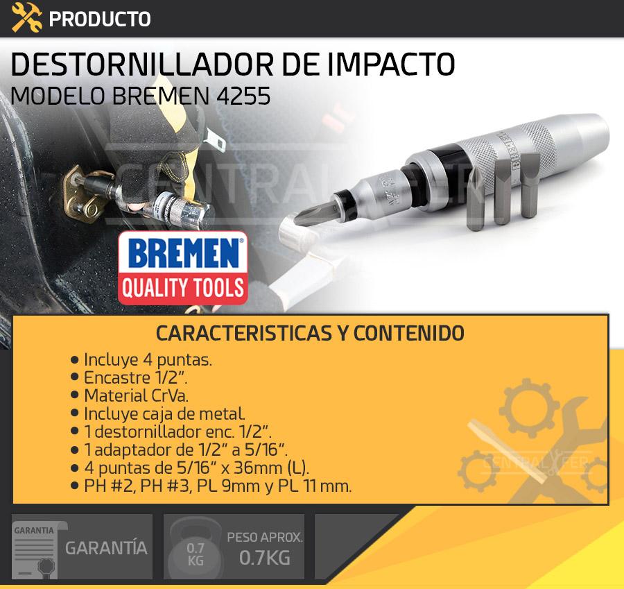 Destornillador de impacto enc bremen 4255 centralfer - Destornillador de impacto ...